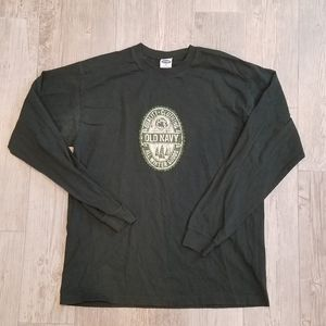 Men's Forest Green Long Sleeved T-shirt
